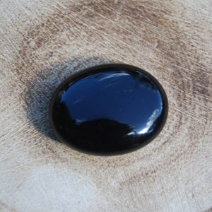 Black Obsidian Small Polished Palmstone Pebble - CJF150