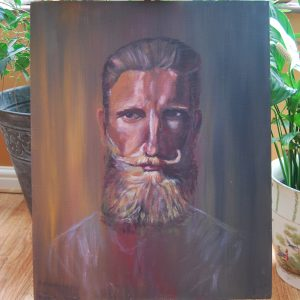 Brown Bearded Lad Portrait - CJF638