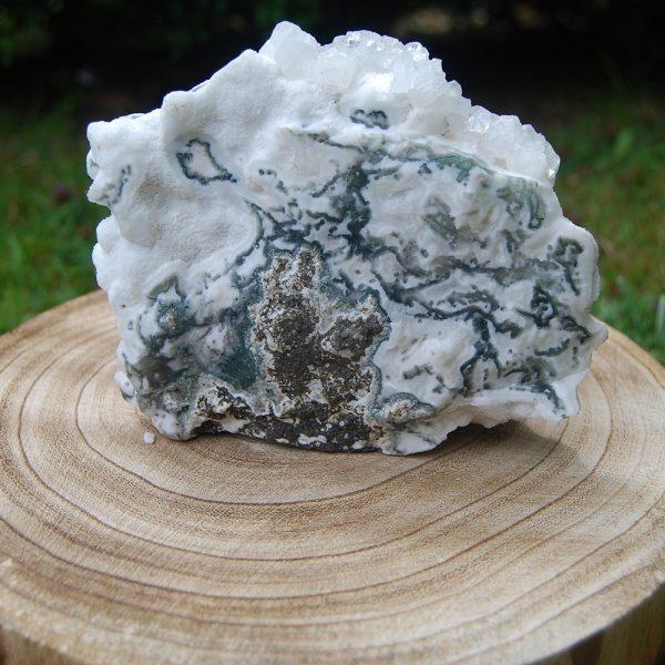 Calcite & Stillbite Quartz Flat Cluster Stone - CJF086
