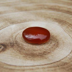 Carnelian small Palmstone Pebble - CJF068