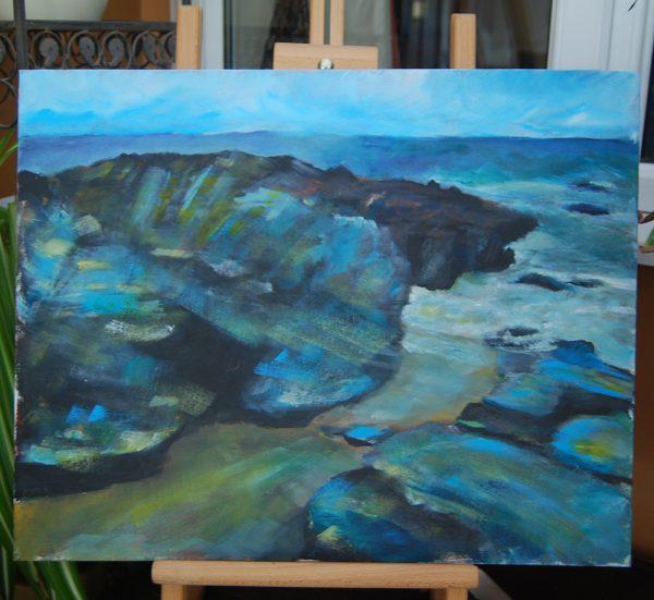 Cornwall Coast Blue Rocks - CJF630