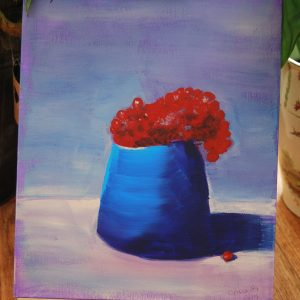 Vase of Cranberries - CJF609