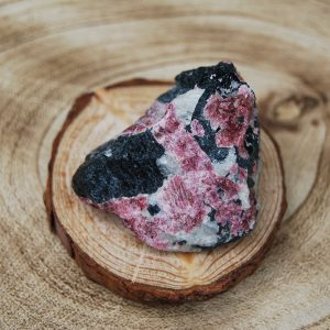 Eudialyte Rough in Feldspar & Aegrine - CJF700