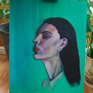 Green Lady Portrait - CJF626
