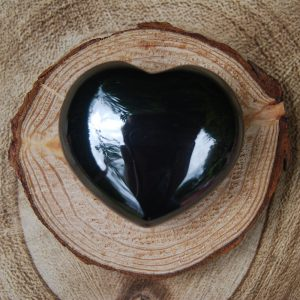 Polished Hematite Heart Crystal - CJF099