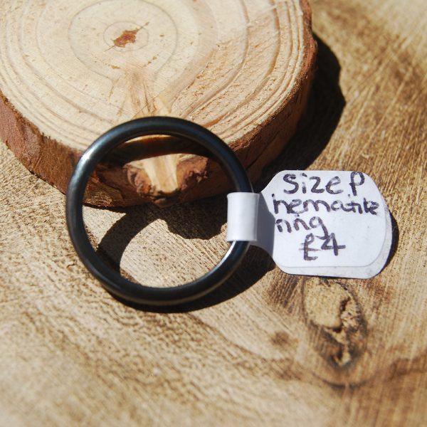 Hematite Ring size P- CJF204