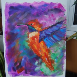Multi Orange & Purple Hummingbird - CJF629