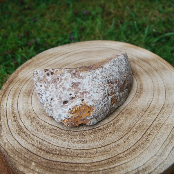 Rough Jasper Unpolished Crystal Slice Stone - CJF081