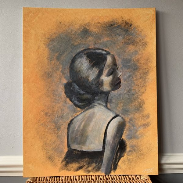 Yellow Monochrome Lady Portrait - CJF688