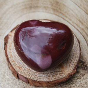 Polished Mookaite Heart Crystal - CJF107