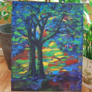 Multi Colour Silhouette Trees - CJF611