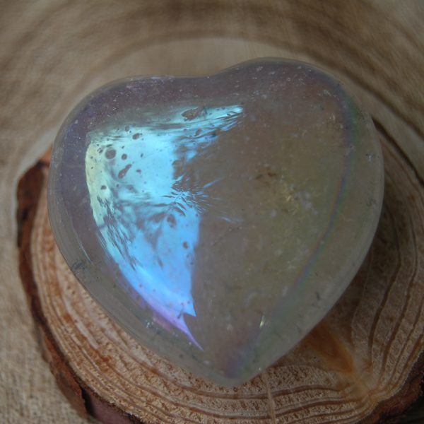 Polished Opal Aura Heart Crystal - CJF110