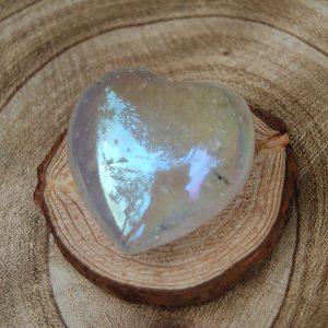 Polished Opal Aura Heart Crystal - CJF110