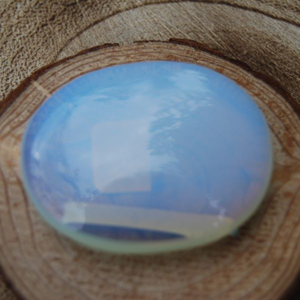 Opalite Polished Palmstone Pebble - CJF171