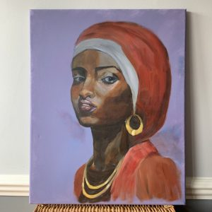 Orange African Lady Portrait - CJF682