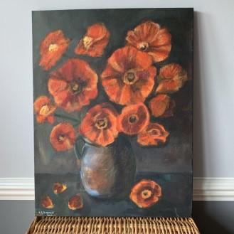 Poppies in Vase - CJF658