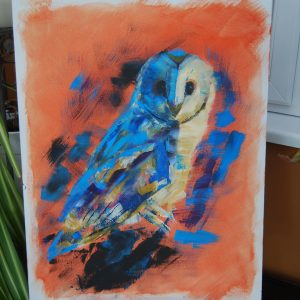 Blue & Orange Owl - CJF628