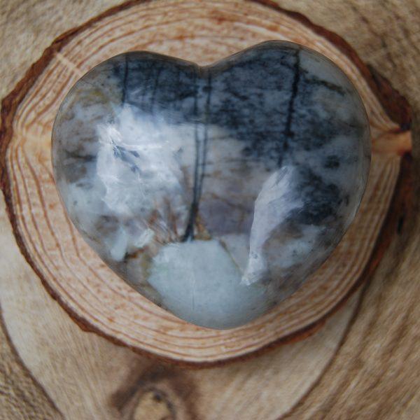 Polished Picasso Jasper Heart Crystal - CJF103