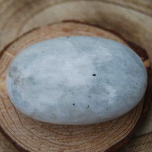 Rainbow Moonstone Soapstone Polished Palmstone Pebble (1) - CJF173