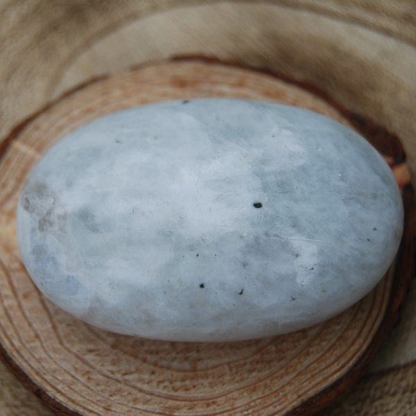 Rainbow Moonstone Soapstone Polished Palmstone Pebble (1) - CJF173