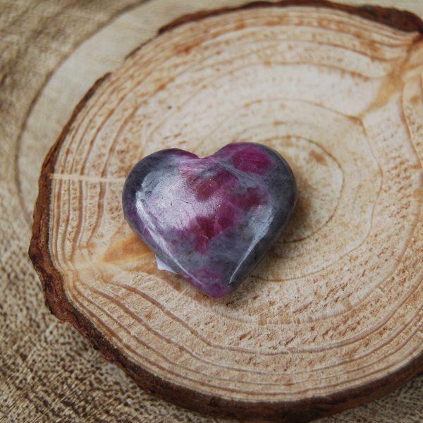 Polished Ruby Feldspar Small Heart Crystal - CJF199