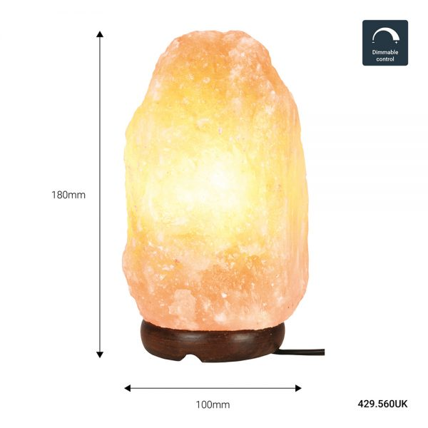 Dimmable Himalayan Rock Salt Lamp (2-3kg)
