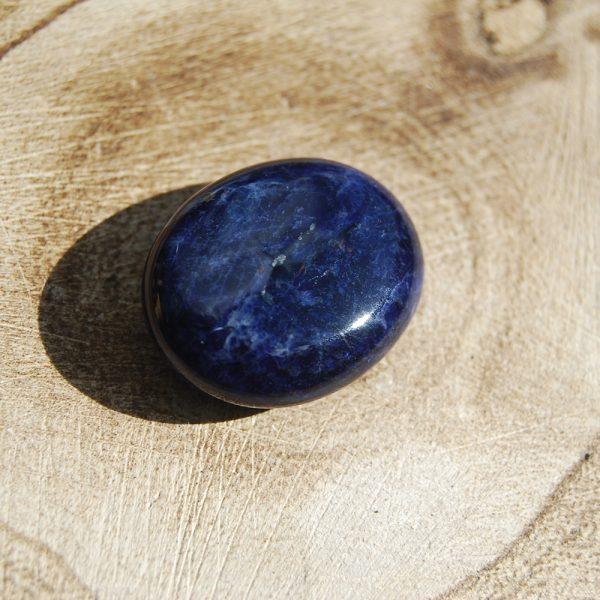 Sodalite Polished Small Palmstone Pebble - CJF162