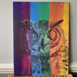 Stripey Owl Head - CJF1711
