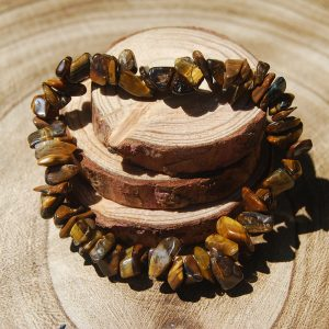 Tigers Eye Chip Elasticated Bracelet - CJF209
