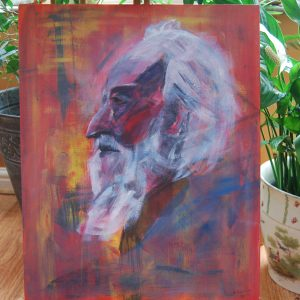 White Bearded Man Portrait - CJF603
