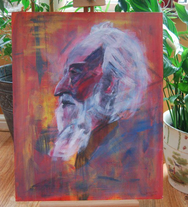 White Bearded Man Portrait - CJF603