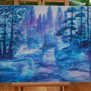 Blue & Purple Winter Woodland - CJF664