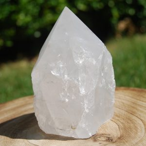 Clear Quartz Rough with Smooth Polished Point - CJF787