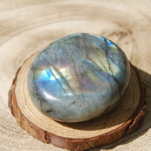 Labradorite Palmstone Pebble - CJF740