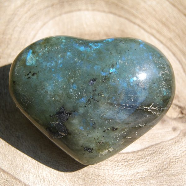 Polished Labradorite Heart Crystal - CJF723