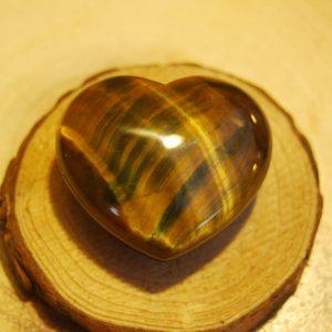 Tigers Eye Polished Heart Crystal - CJF102a