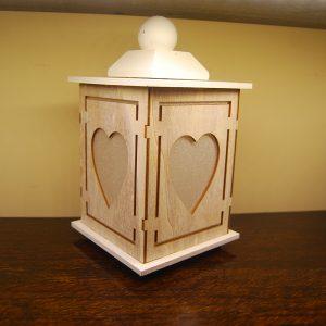 Wooden Heart Lantern - CJF571
