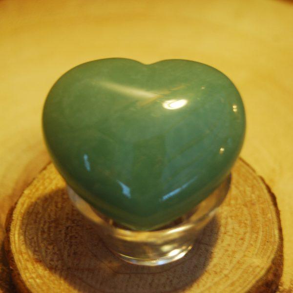 CJF916 - Green Aventurine Crystal Heart b
