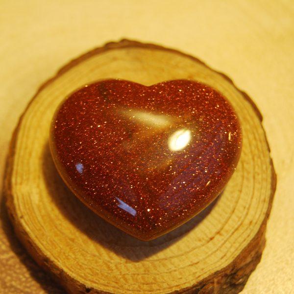 Brown Goldstone Polished Heart Crystal - CJF926